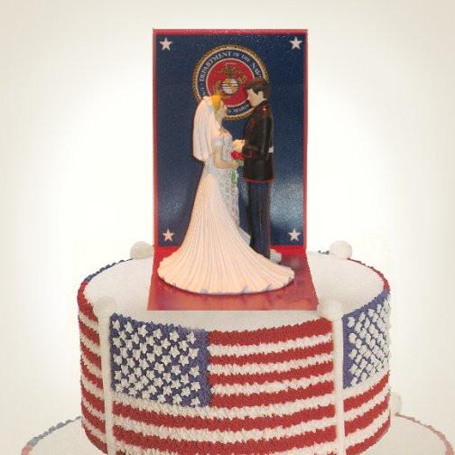 Military Wedding Cakes  Military Wedding Cake Toppers