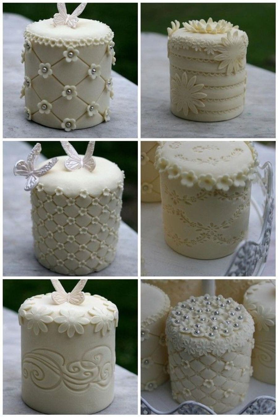 Mini Cakes For Wedding  Collection Mini Wedding Cakes CakeCentral