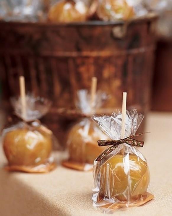 Mini Caramel Apples Wedding Favors  Caramel champagne Wedding Color Palettes Weddbook
