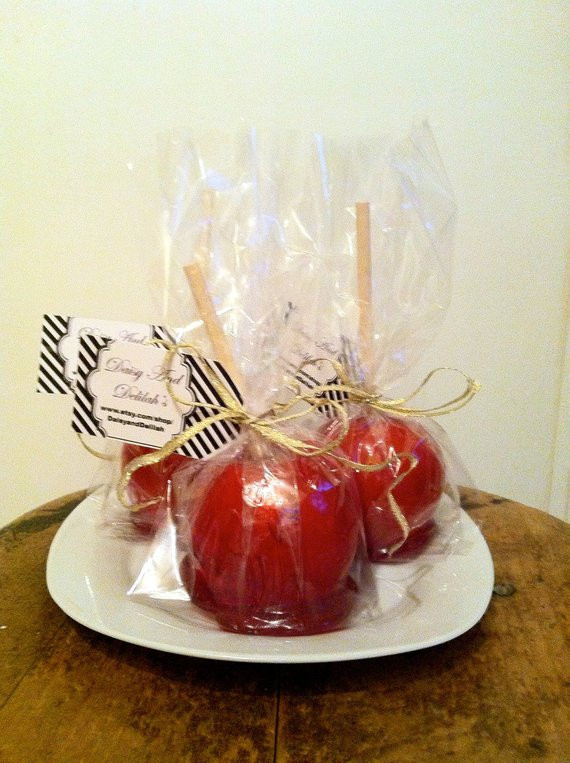 Mini Caramel Apples Wedding Favors  RESERVED FOR MAGGIE 175 Candy Apple Wedding by DaisyandDelilah