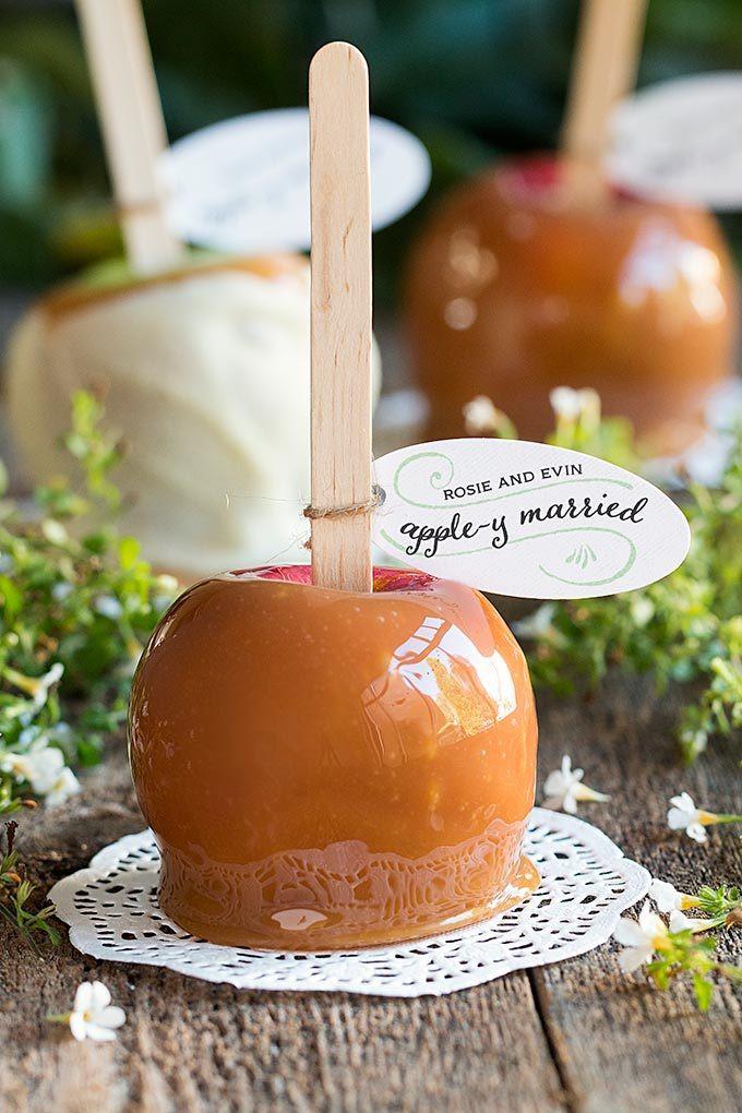 Mini Caramel Apples Wedding Favors  Where to Buy Caramel Apple Favors for Weddings Wedding