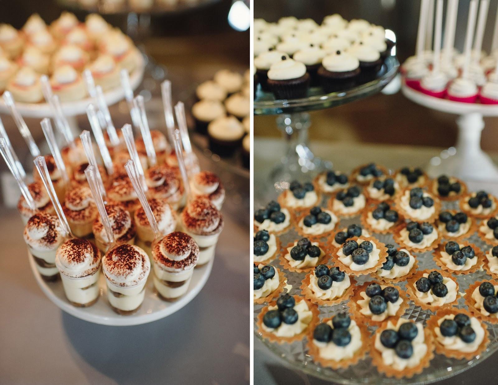 Mini Desserts For Wedding  cocoa & fig Barn Wedding Mini Dessert Table and 2 Tier