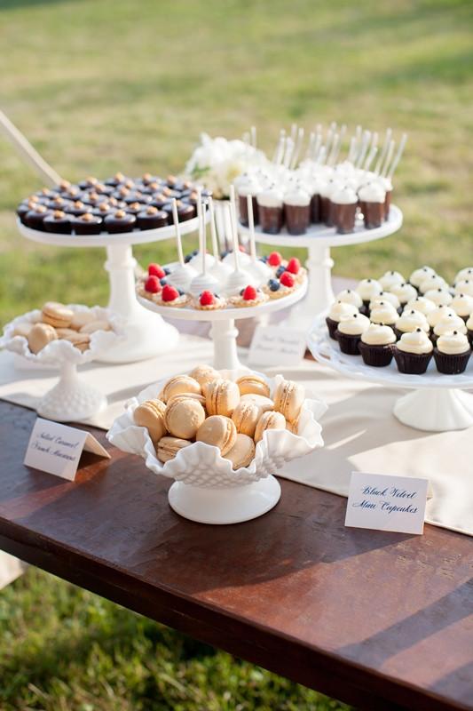 Mini Desserts For Wedding  cocoa & fig Elegant Vintage Wedding Cake and Mini Dessert