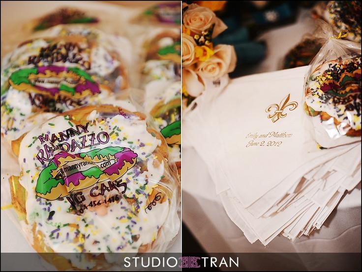 Mini King Cakes Wedding Favors  151 best King Cake images on Pinterest