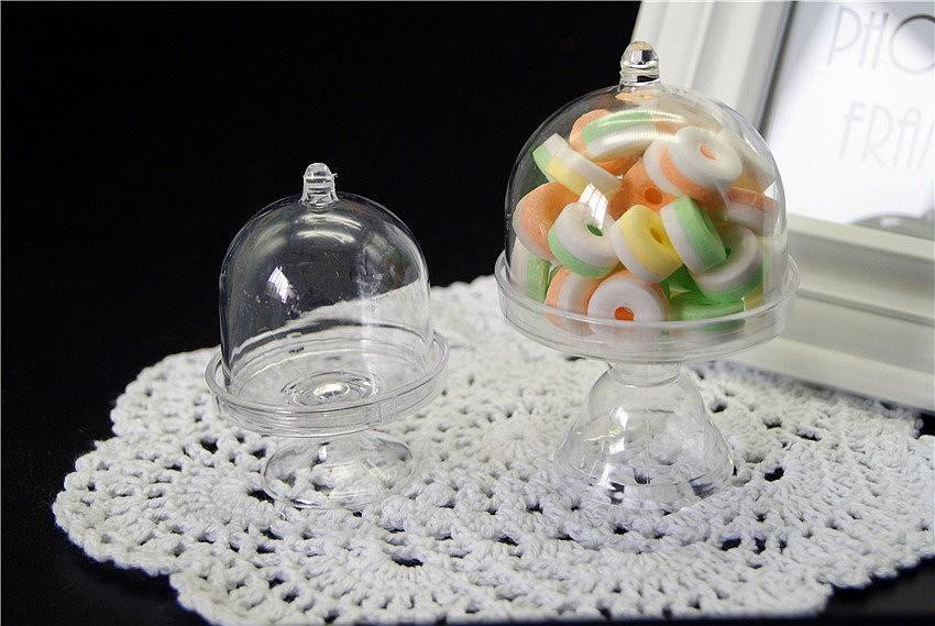 Mini King Cakes Wedding Favors  Mini Cake Stand Plastic Clear Wedding Favor Boxes Gzsq9