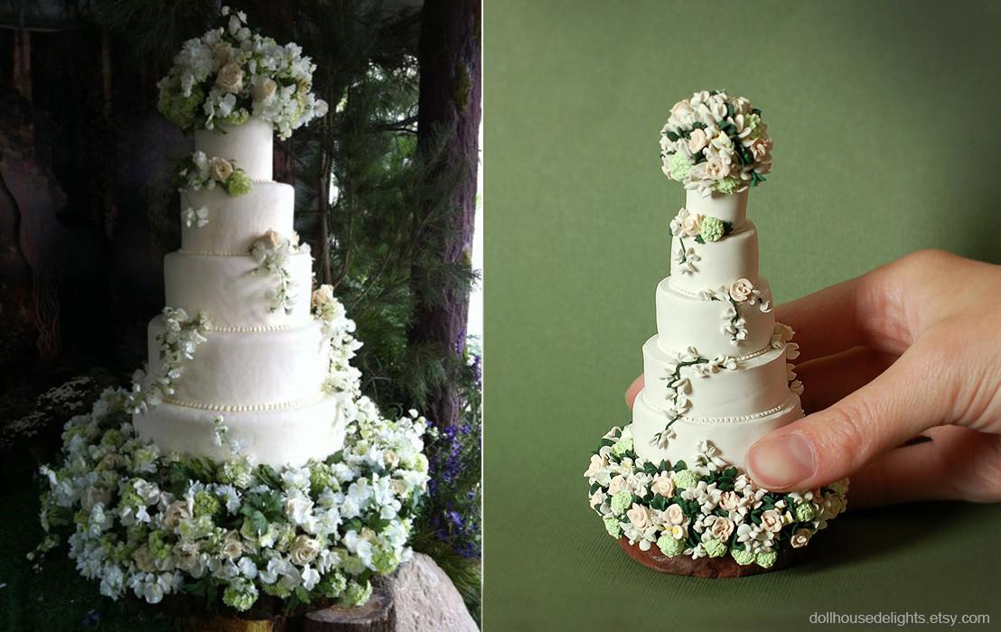 Miniature Wedding Cakes  Twilight Wedding Cake Miniature Replica