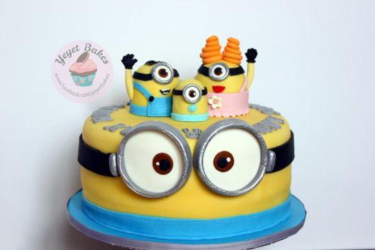 Minion Wedding Cakes  Minions Wedding Anniversary Cake cake by Yeyet Bakes