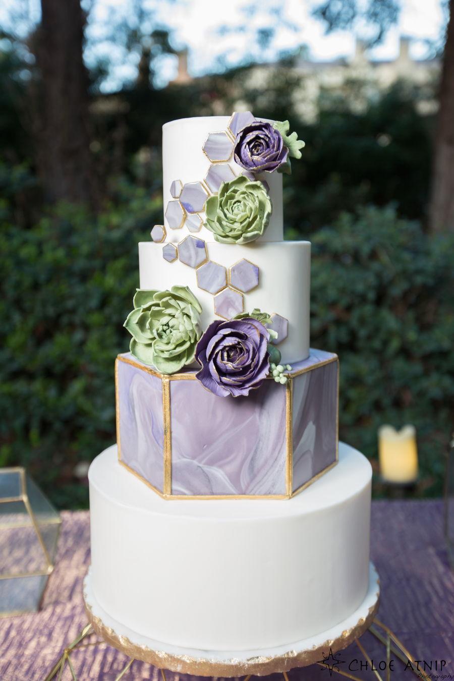 Modern Wedding Cakes  Geometric Modern Wedding Cake CakeCentral
