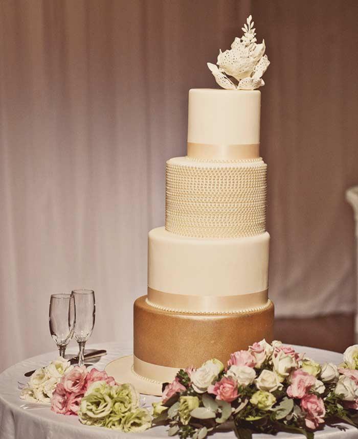 Modern Wedding Cakes  Glistening Golden Wedding Cakes Modern Wedding