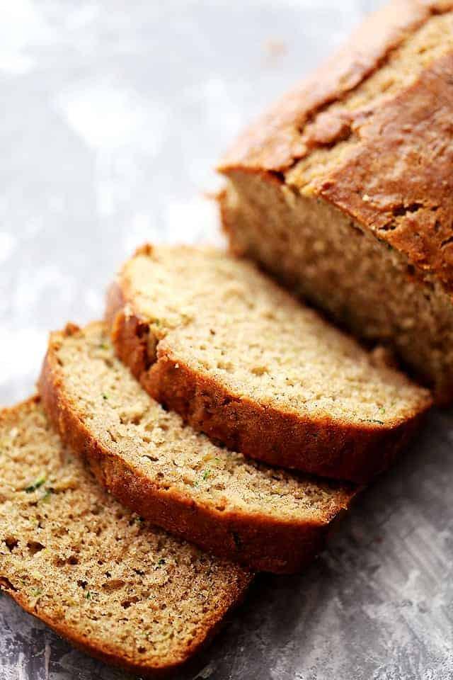 Moist Healthy Zucchini Bread Recipe  Healthy Apple and Zucchini Bread Diethood