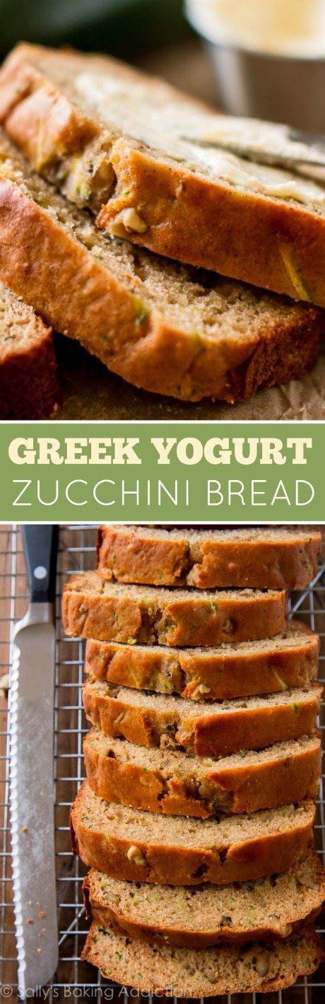 Moist Healthy Zucchini Bread Recipe  Greek Yogurt Zucchini Bread Sallys Baking Addiction