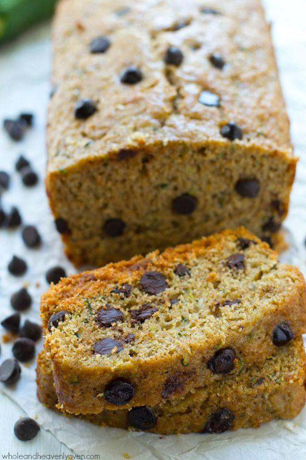 Moist Healthy Zucchini Bread Recipe  Healthy Dark Chocolate Chip Zucchini Bread