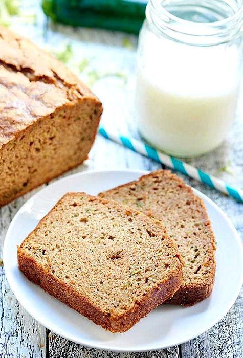 Moist Healthy Zucchini Bread Recipe  Moist dense zucchini bread recipe