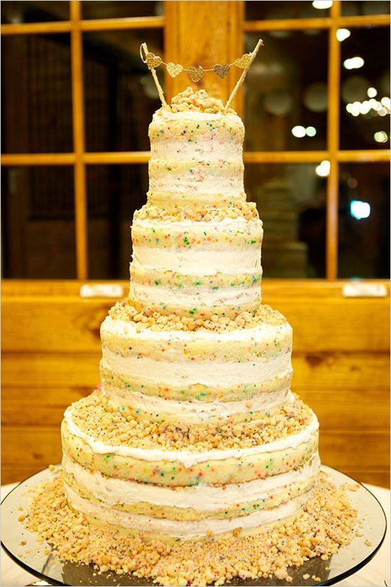 Momofuku Wedding Cakes  Red and Grey Outdoor Wedding in Alabama