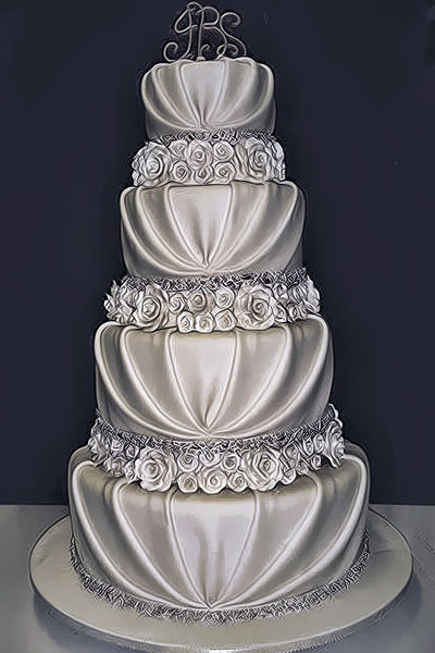 Most Beautiful Wedding Cakes  10 Pretty Romantic Wedding Cakes