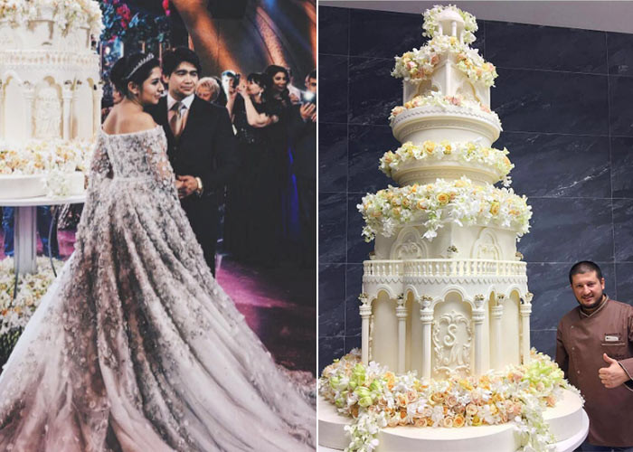 Most Expensive Wedding Cakes  Take a look inside the most expensive wedding EVER EVOKE
