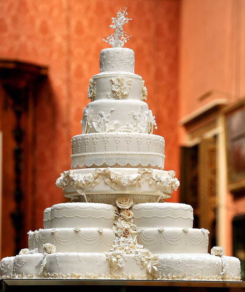 Most Extravagant Wedding Cakes  Most Expensive Celebrity Wedding Cakes Top Ten List