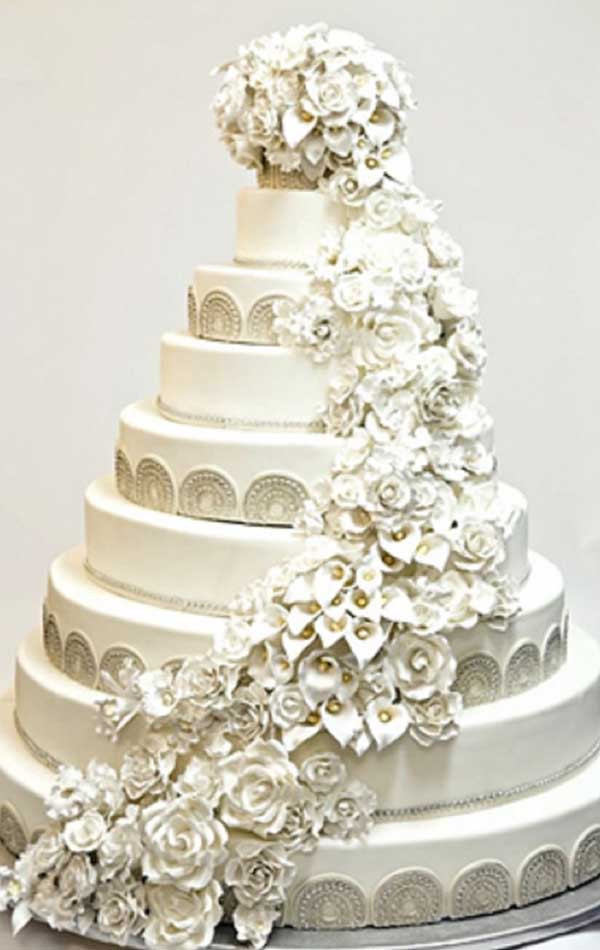 Most Extravagant Wedding Cakes  Top 10 World s Most Expensive Celebrity Wedding Cakes