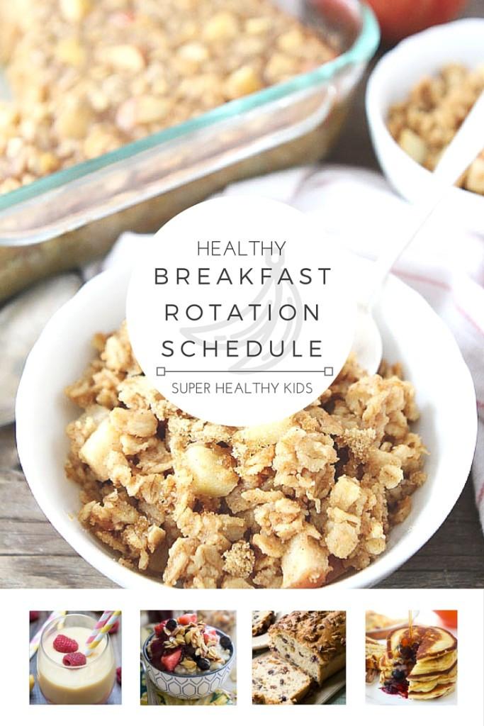 Most Healthy Breakfast  Healthy Breakfast Weekly Planner