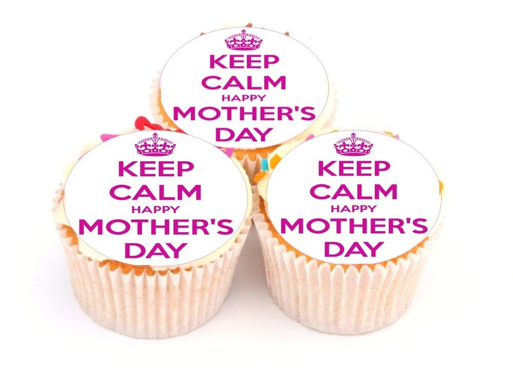 Mother's Day Cupcakes 20 Best Mothers Day Cake toppers Keep Calm Happy Mother S Day