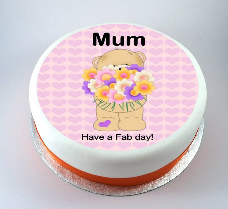 Mother'S Day Cupcakes  Bear with Flowers Mothers Day Cake