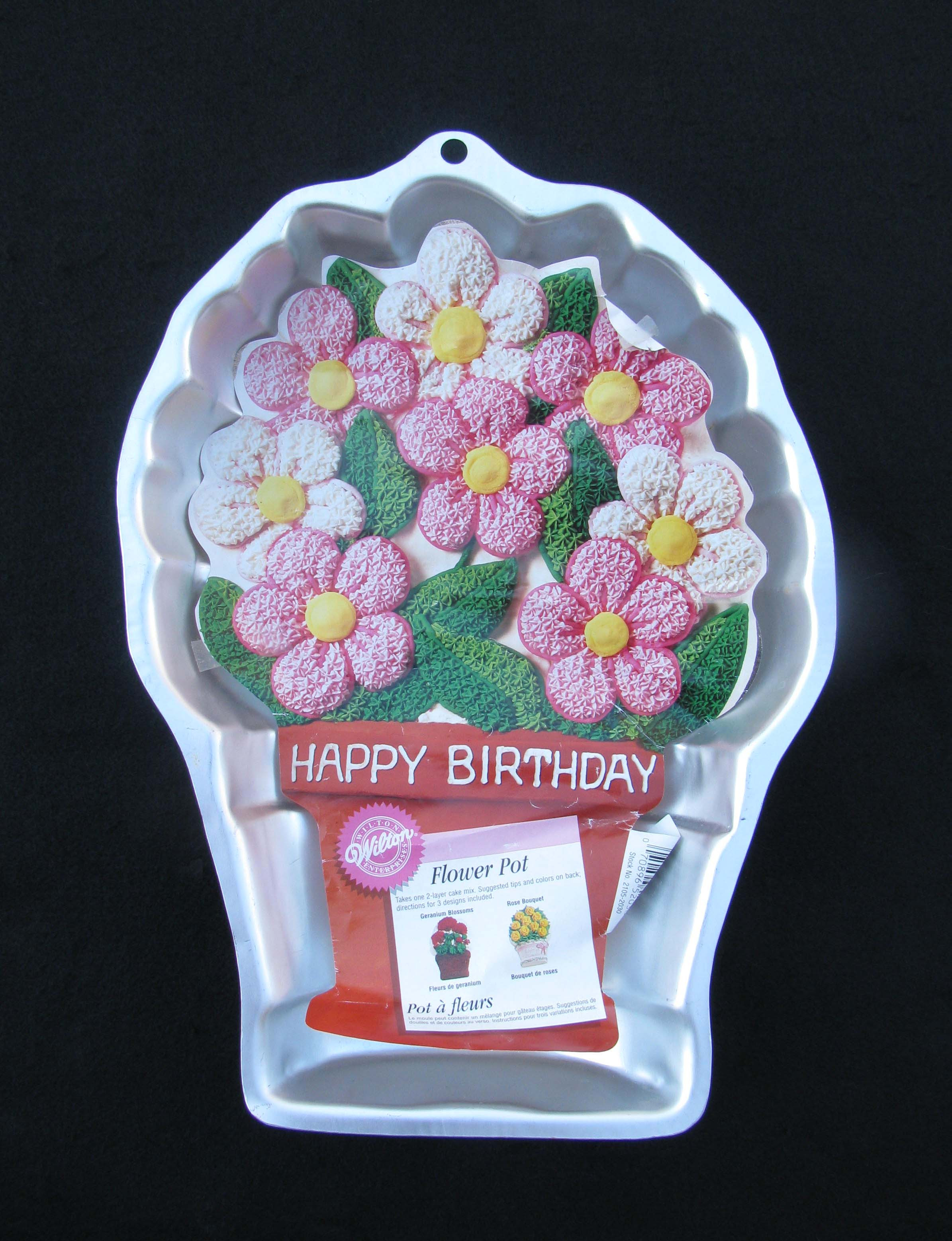 Mother'S Day Cupcakes  Wilton FLOWER POT Cake Pan Mother s Day Birthday 1998