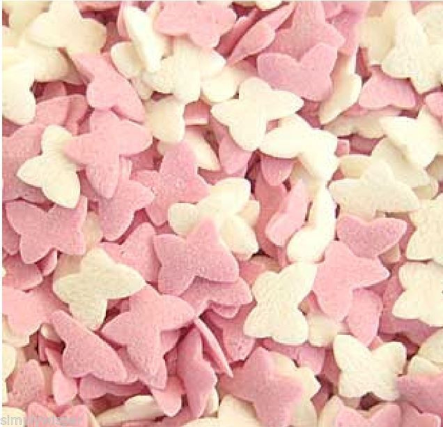Mother'S Day Cupcakes  Sugar Butterflies Cupcake Sprinkles 30g Butterfly Mother s
