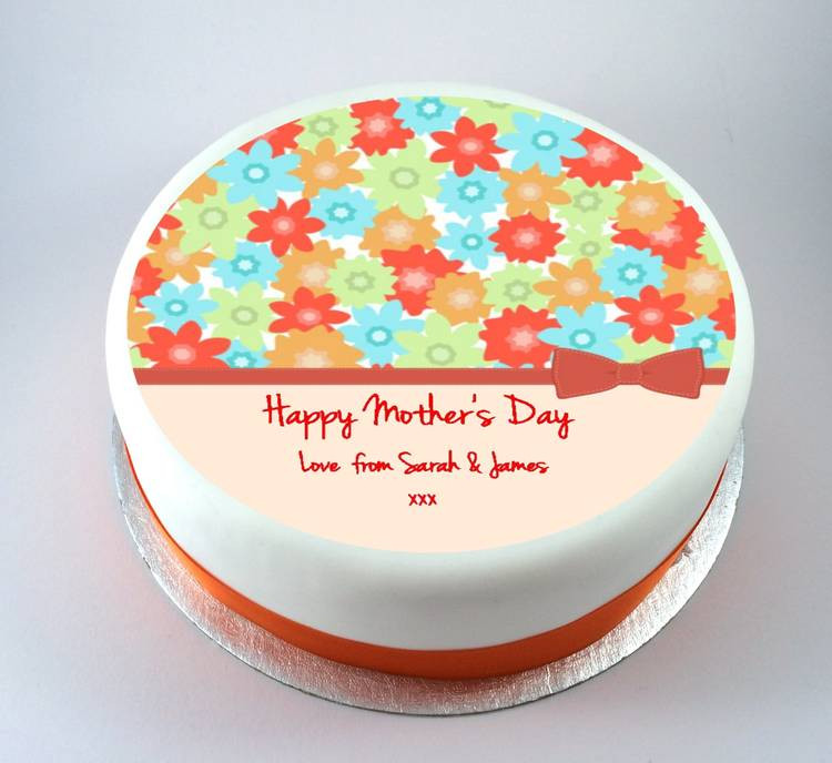 Mother'S Day Dessert  Colourful Flowers Mothers Day Cake