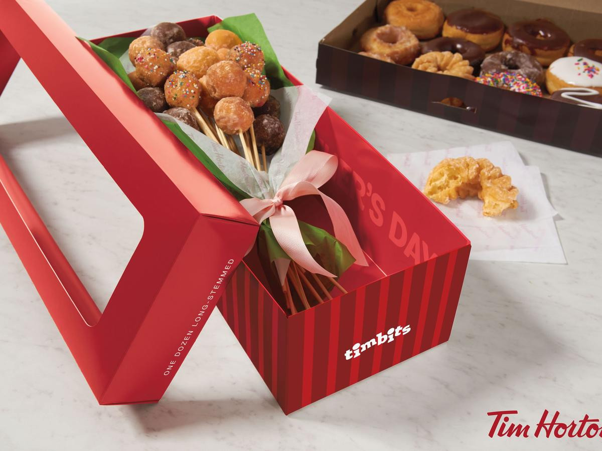 Mother'S Day Dessert Recipes  Tim Hortons Has a Doughnut Bouquet for Mother s Day