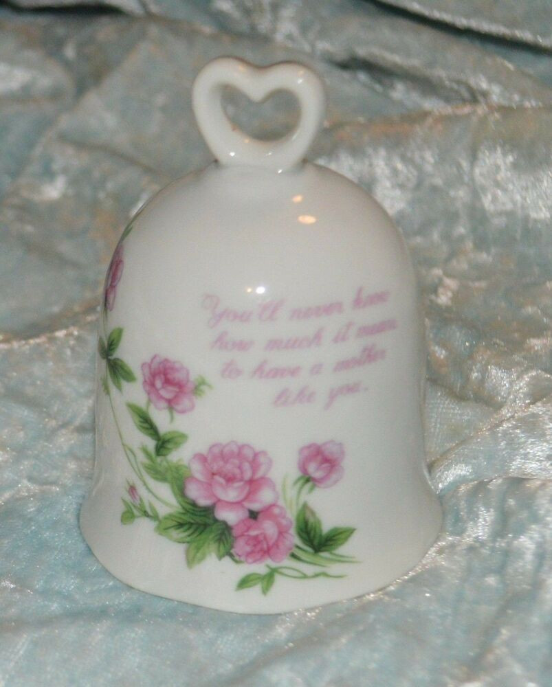 Mother'S Day Desserts Pinterest  Lefton China Bell Hand Painted Mother s Day Bell