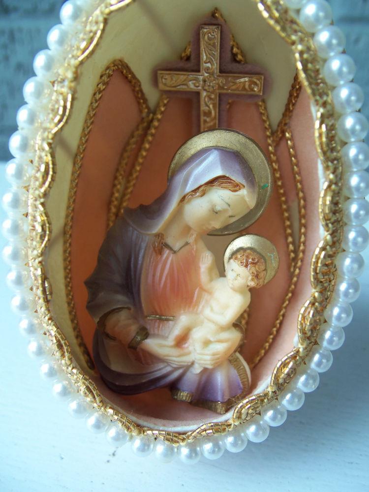 Mother'S Day Desserts Pinterest  Vintage Nativity Mary & Jesus Egg Diorama CHRISTMAS