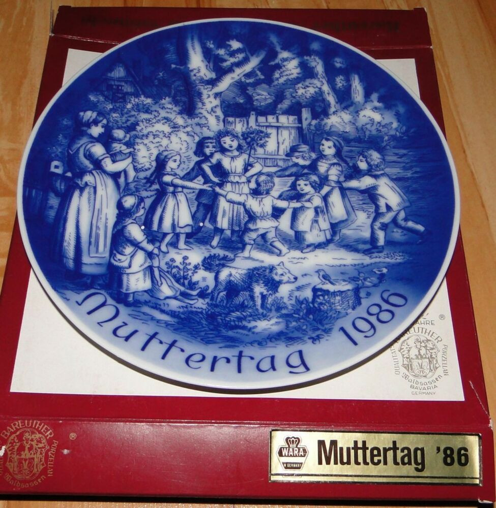 Mother'S Day Dinner  1986 Mother s Day MUTTERTAG Bareuther Bavaria Plate