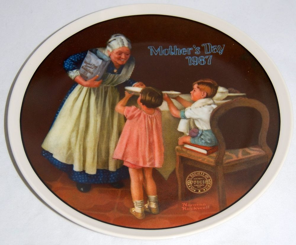 Mother'S Day Dinner  Grandma s Surprise by Norman Rockwell Mother s Day 1987