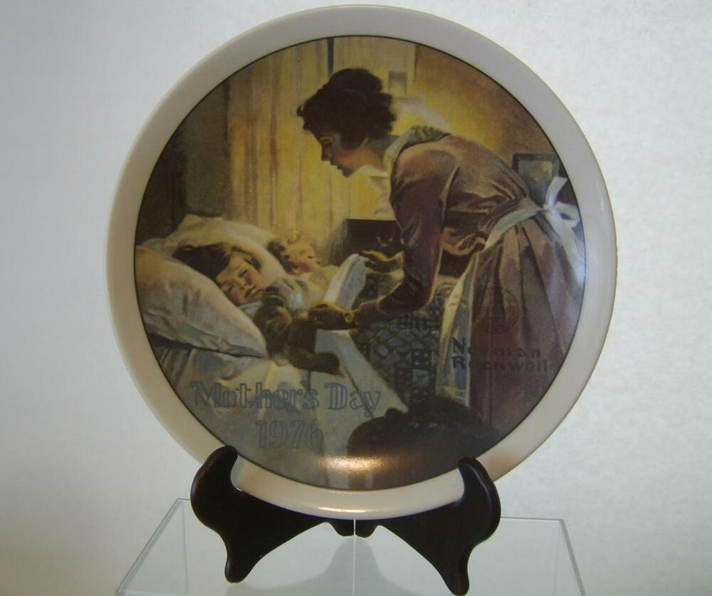 Mother'S Day Dinner  Norman Rockwell A Mother s Day Love Plate Rockwell Society