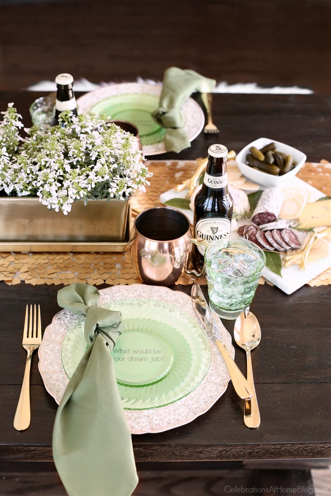 Mother'S Day Dinner Ideas Pinterest  Irish themed dinner party for St Patrick s Day