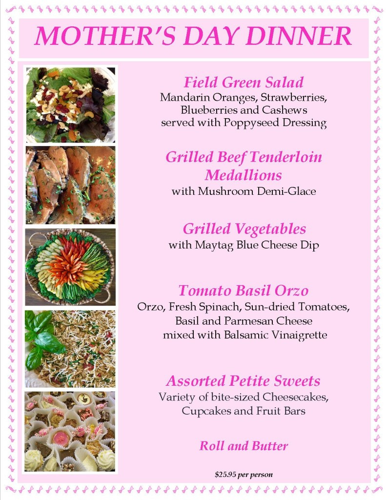 Mother'S Day Dinner Menu  Mothers Day Dinner The Art of Entertaining The Art of