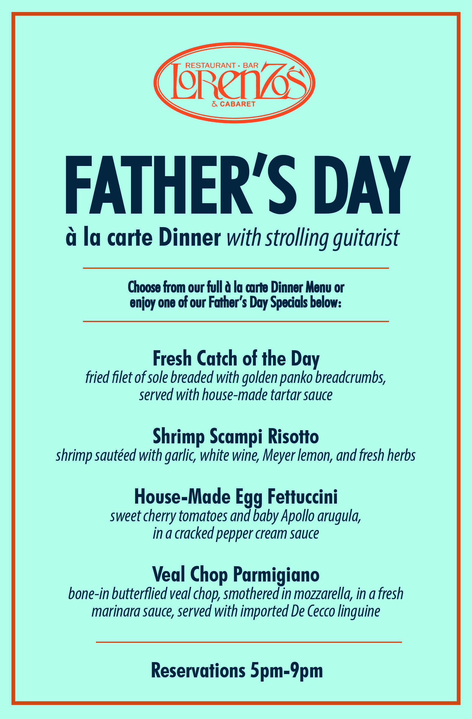 Mother'S Day Dinner Menu  Celebrate Father s Day Nicotra s Ballroom