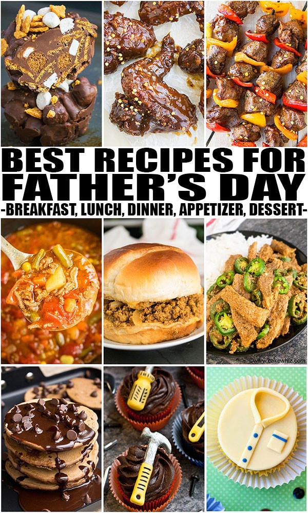 Mother'S Day Dinner Recipes  Father s Day Recipes Breakfast Lunch Dinner Dessert