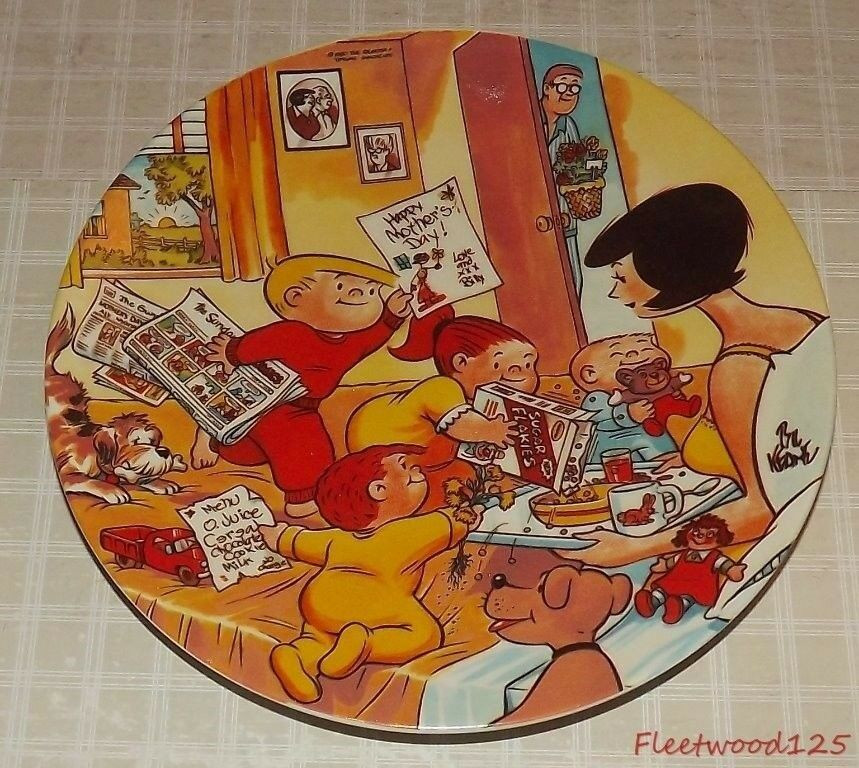 """Mother'S Day Dinner Specials  1980 First Edition Bil Keane """"The Mother s Day Plate"""" 807"""