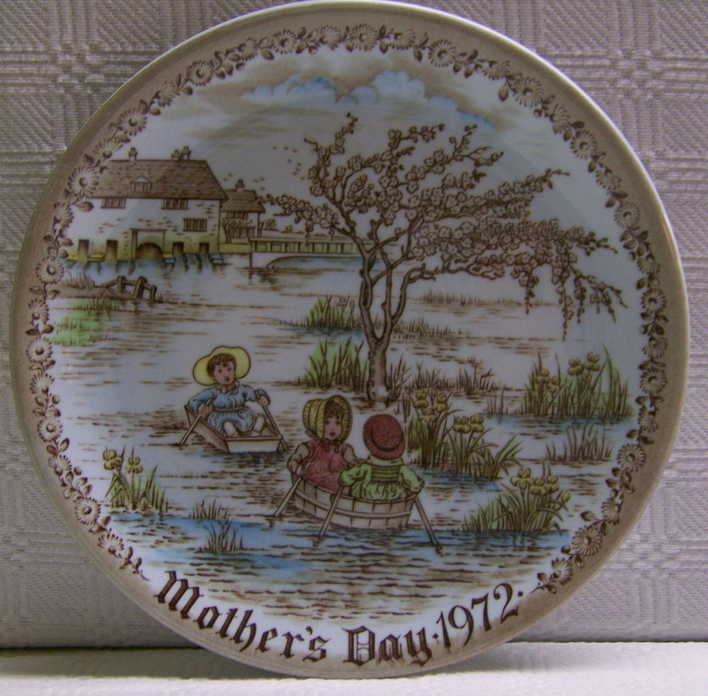 Mother'S Day Dinner Specials  1972 Mother s Day Plate Old English Staffordshire Ware