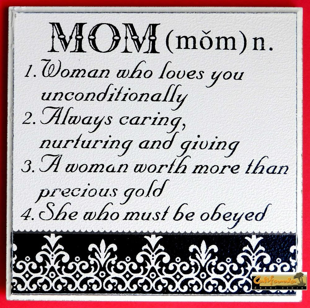 """Mother'S Day Dinner Specials  """"MOM"""" MOTHER S DAY SIGN Humor Funny Wood Plaque Picture"""