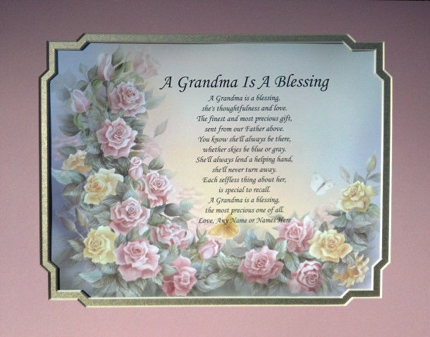 Mother'S Day Dinner Specials  A GRANDMA IS A BLESSING POEM PERSONALIZED BIRTHDAY
