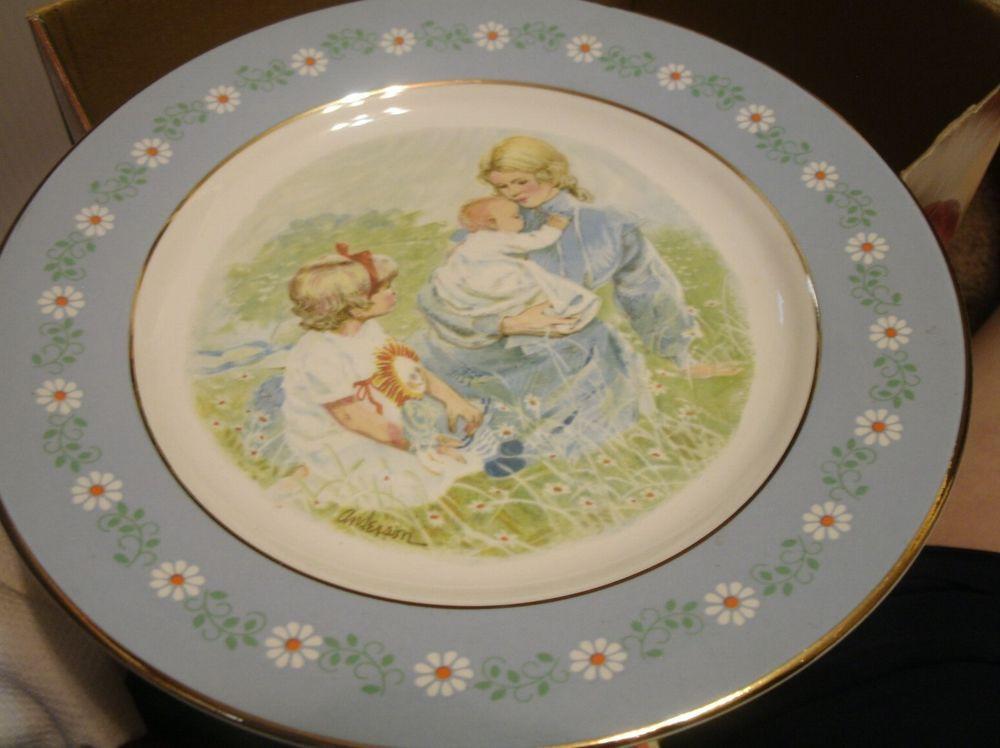 Mother'S Day Dinner  Pontesa Ironstone Avon 1974 Mother s Day Tenderness Plate