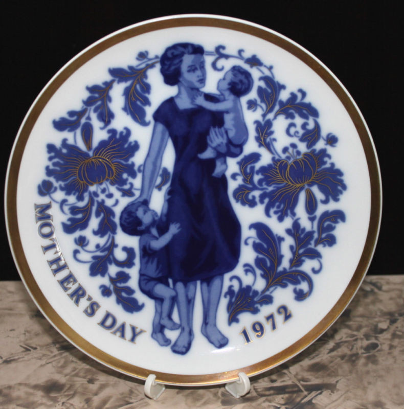 Mother'S Day Dinners  Vintage Santa Clara Plate Mother s Day 1972 Spain