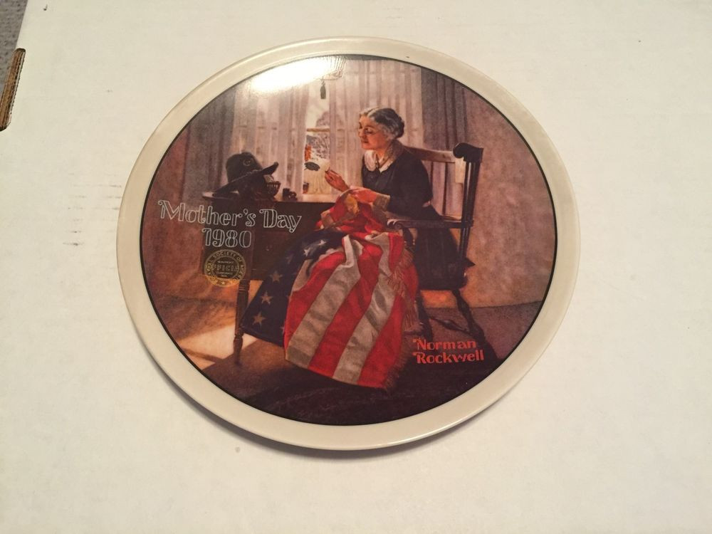 """Mother'S Day Dinners  1980 NORMAN ROCKWELL MOTHERS DAY PLATE """"MOTHER S PRIDE"""""""