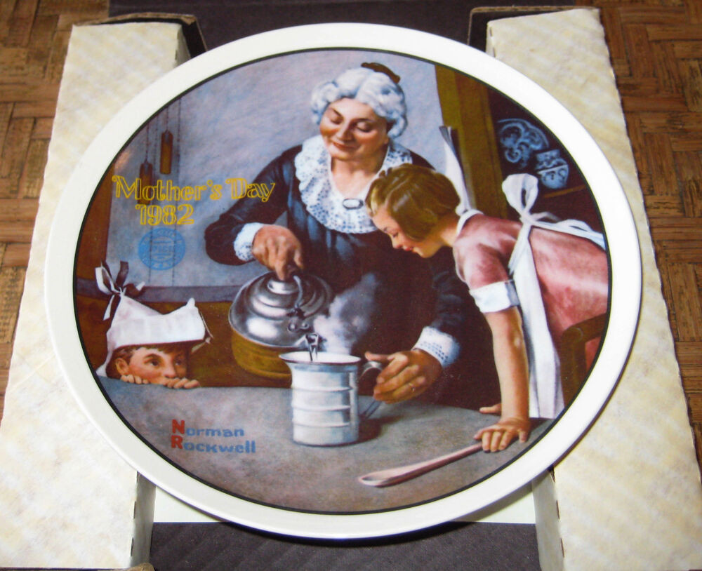"""Mother'S Day Dinners  Norman Rockwell """"The Cooking Lesson"""" Mother s Day 1981"""