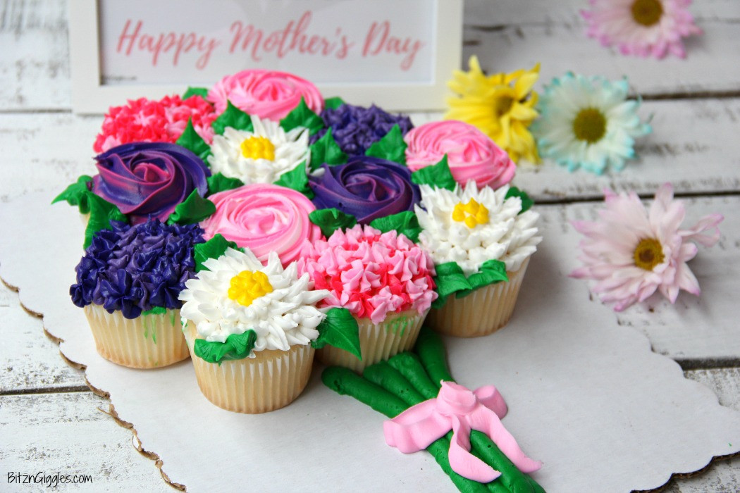 Mothers Day Cupcakes  Mother s Day Cupcake Cake Free Printable Bitz & Giggles