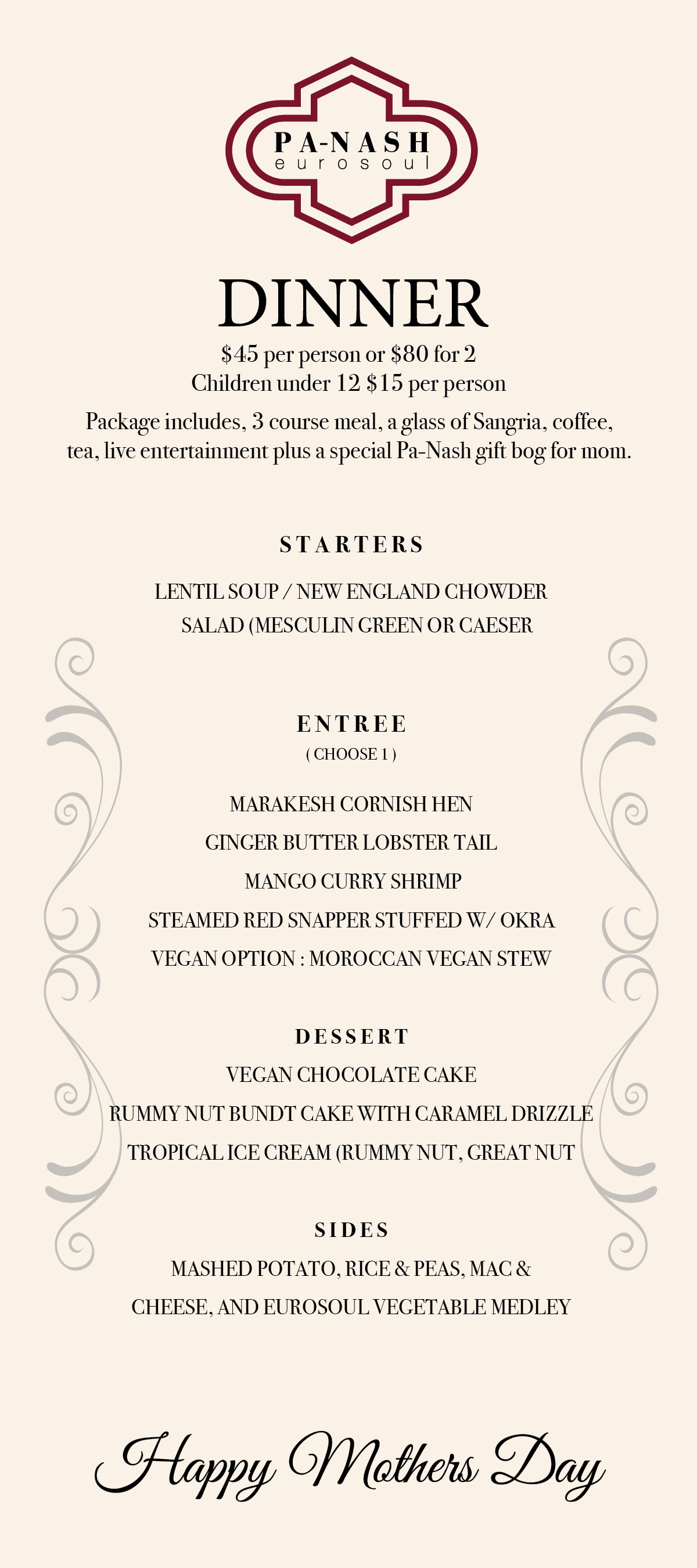 Mothers Day Dinner Restaurant  Mothers Day Brunch & Dinner Packages Tickets Multiple