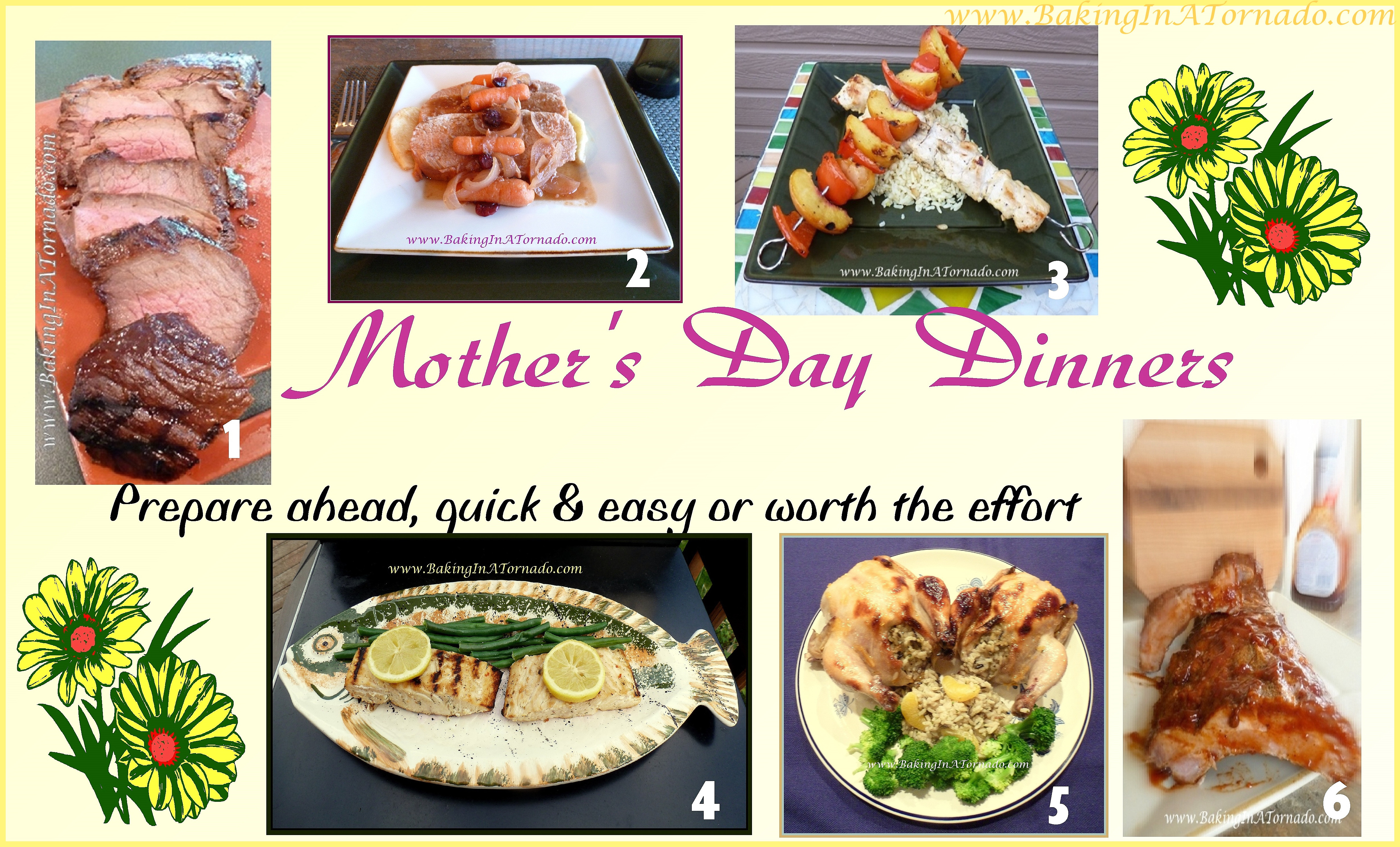 Mothers Day Dinners  Fifty Recipes Mother s Day All Day
