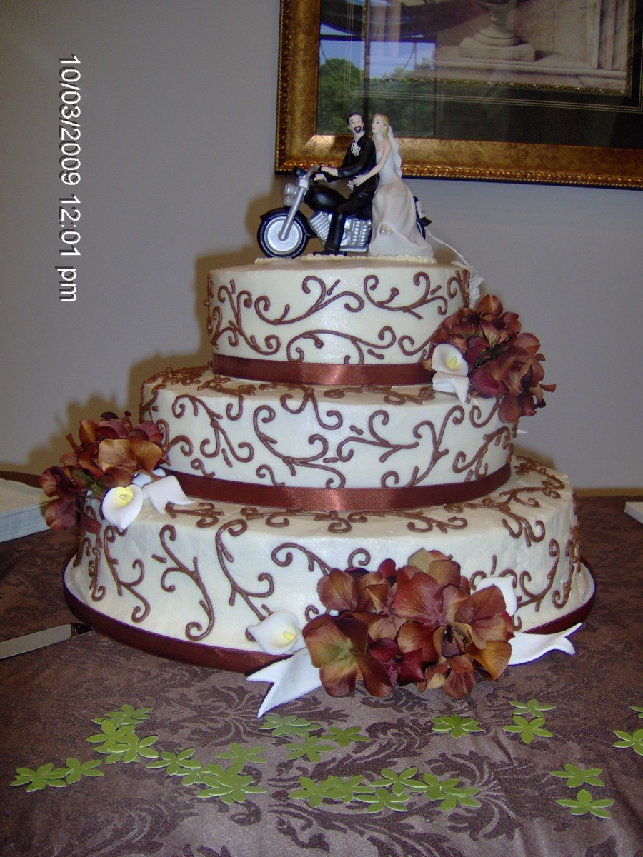 Motorcycle Wedding Cakes  Fall Motorcycle Wedding Cake CakeCentral